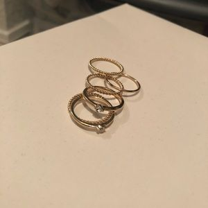Gold tone ring stack